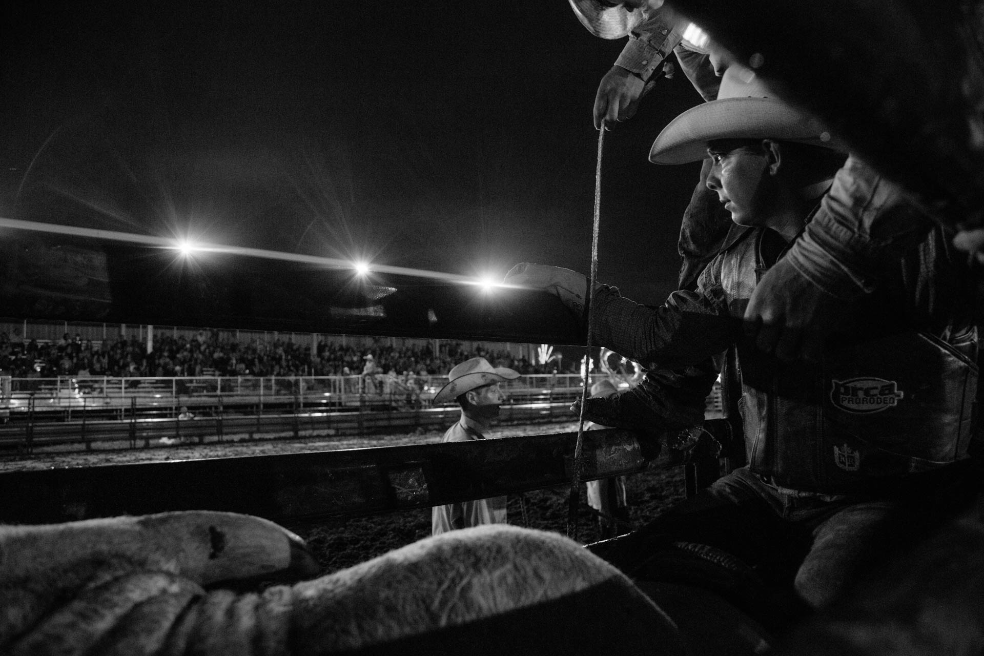 bull-rider-waits-his-turn-in-bull-chute-under-the-lights-prca-pro-rodeo-vest-a5333