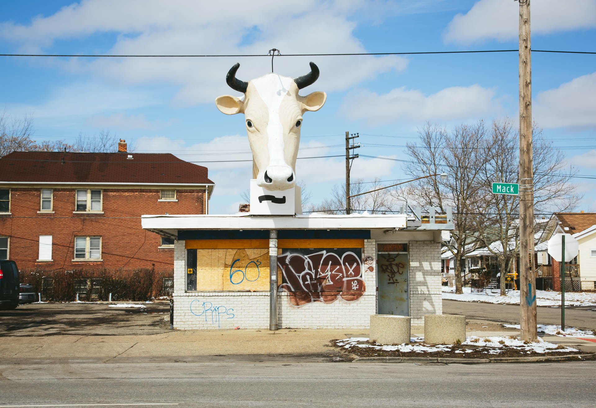 detroit-abandoned-business-cow-head-statue-mack-street