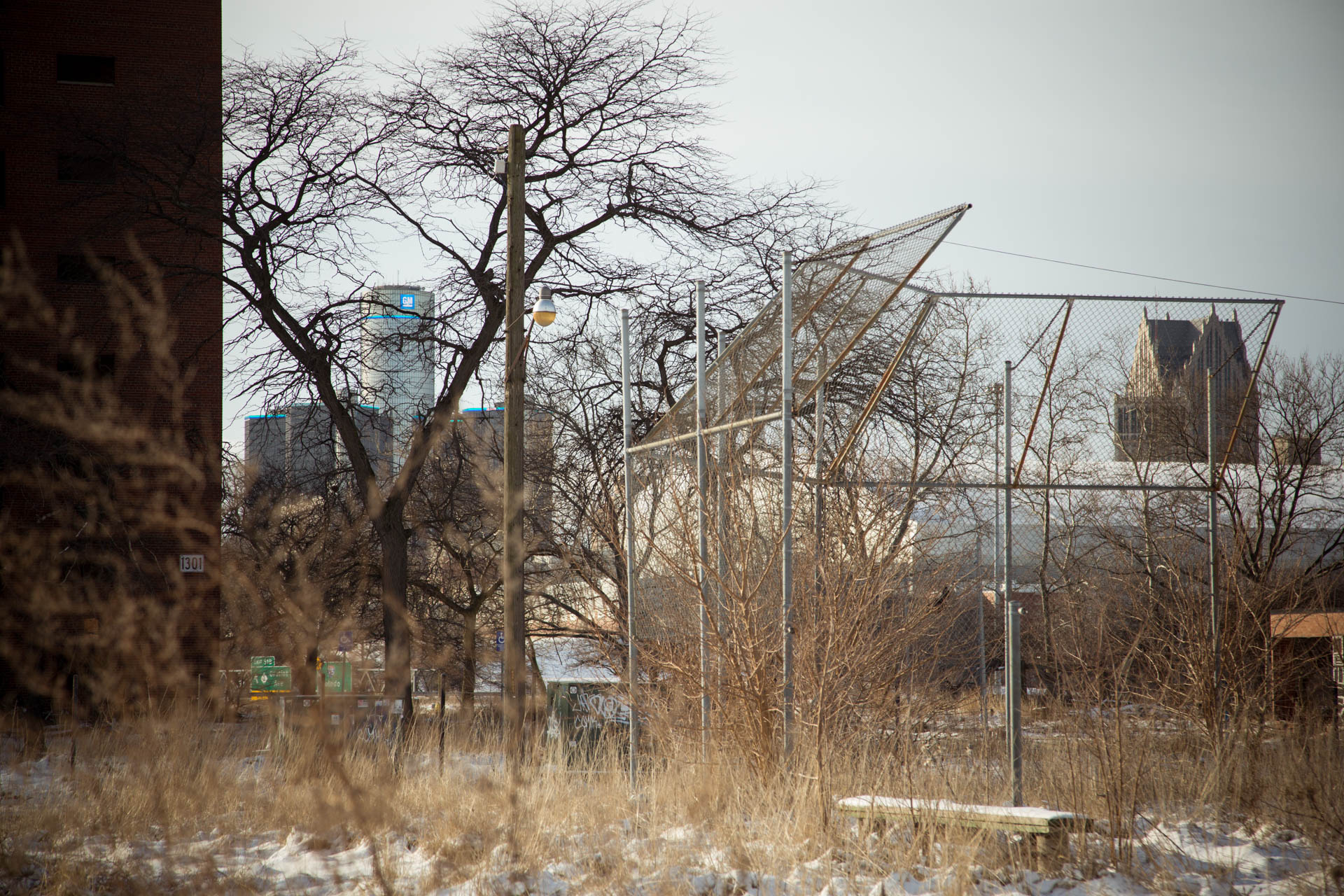 downtown-detroit-gm-building-abandoned-lot-baseball-field