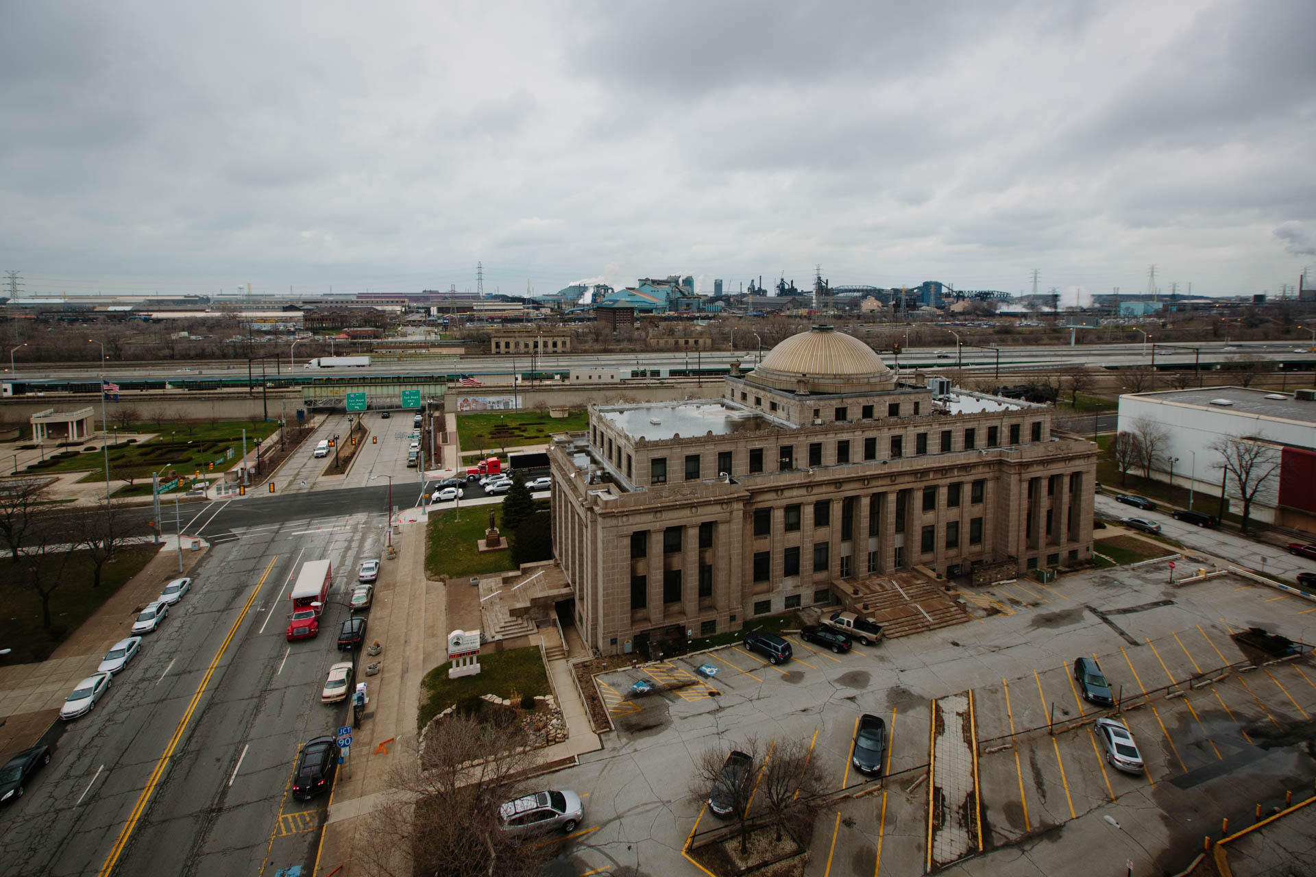 gary-city-hall-us-steel-aerial