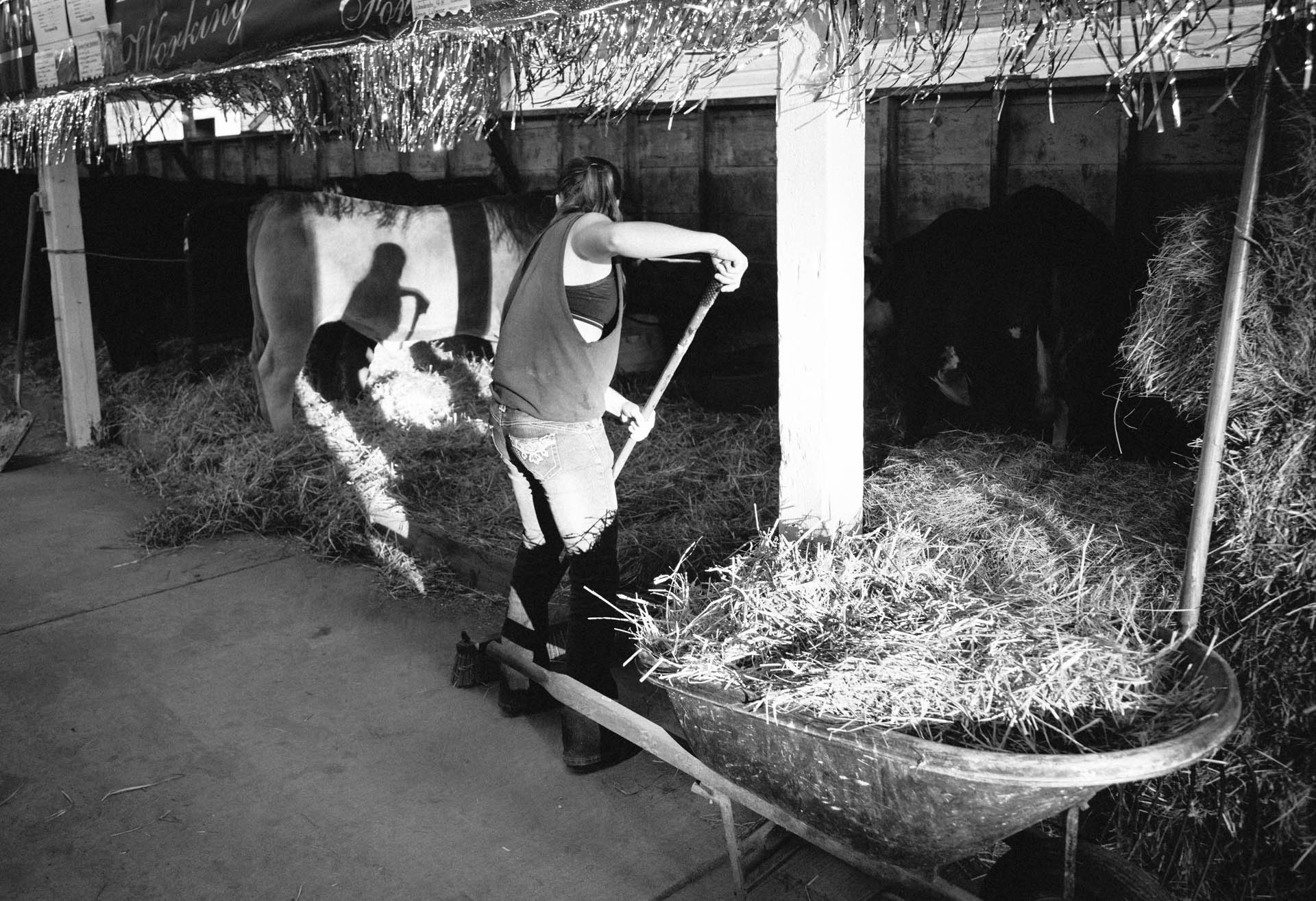 northern-wisconsin-state-fair-girl-doing-stall-chores